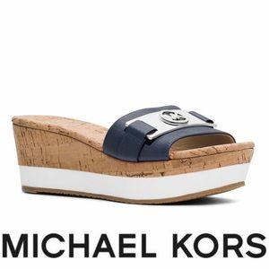 Michael Kors Warren Nappa Leather Wedges
